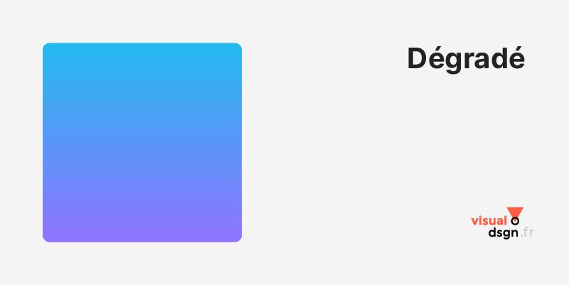 Vocabulaire de la couleur : dégradé