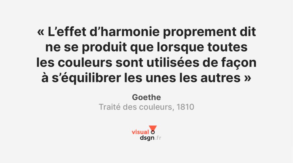 Citation sur la couleur - Goethe