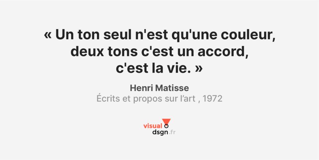 Citation sur la couleur - Matisse