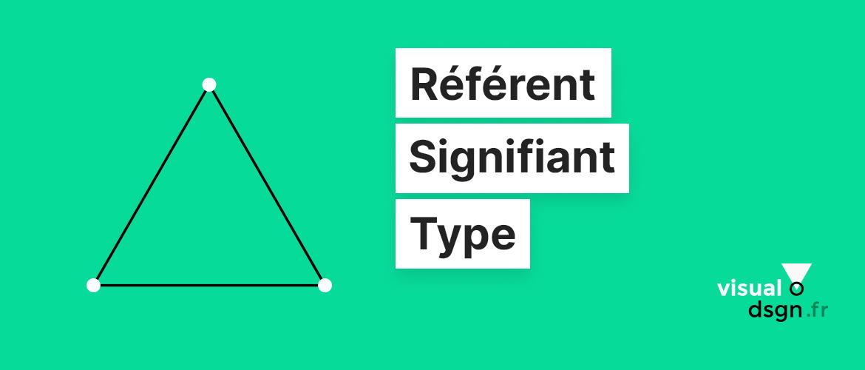 Triangle sémiotique : l'identification des signes iconiques